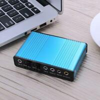 External USB Sound Card Channel 5.1 7.1 Optical Audio Card Adapter for PC