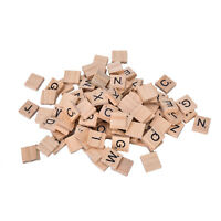 100 Alphabet En Bois Scrabble Tuiles Noires Lettres Chiffres Pour L'Artisanat 9H
