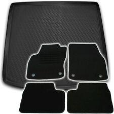 Set Gummi Kofferraumwanne + Fußmatten Velours für Opel Astra H Caravan 2007-