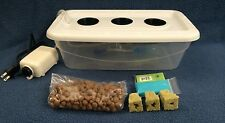 3 Plant Site Hydroponic Grow Kit System Bubble Tub Dwc