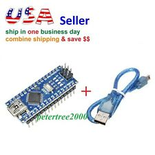 Mini USB Nano V3.0 ATmega328 CH340 5V 16MHz Micro-controller Board Welded+ Cable