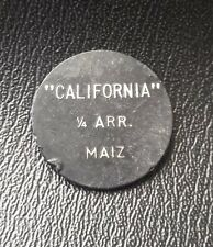 Guatemala token, finca california 1/4 ARR. MAIZ. ficha de finca
