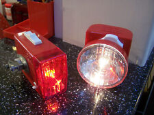 vintage ever ready berec bicycle lights red post office 1970s 1980s