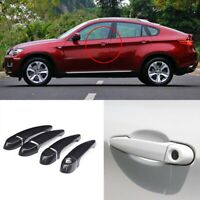 Carbon Fiber Exterior Door Handle w/o Smart Key Cover Trims For BMW X6 E71 08-13