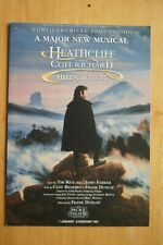 HEATHCIFF The Musical CLIFF RICHARD Palace Theatre Manchester Rare Flyer 1997