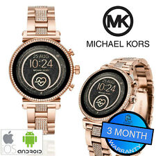 Michael Kors Access Sofie Touch Smartwatch Rose Gold Heart Rate Fitness Tracker