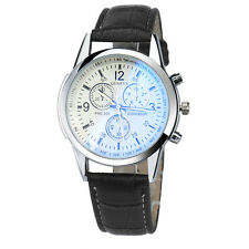 Luxury Mens Fashion Date Watches Leather Stainless Steel Analog Wrist Watch