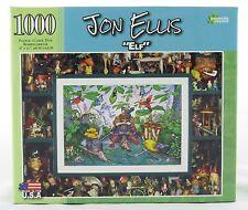 Elf 1000 Piece Jigsaw Puzzle Jon Ellis NEW holiday yard art gnome garden bird