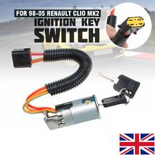 For RENAULT CLIO MK2 MEGANE SCENIC 98-05 IGNITION LOCK SWITCH BARREL 2 Keys  >