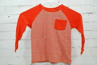 baby Gap Kids Long Sleeve Raglan Stripe T-Shirt Pocket Boys 4 Years Cotton