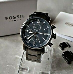 Fossil Herrenuhr Uhr Armbanduhr Chronograph Edelstahl Fossil Rhett BQ1701