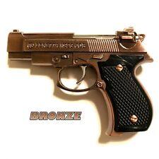 Beretta M92G Jet Torch Pistol Gun Lighter 1/2 Scale Bronze - Trigger Activated