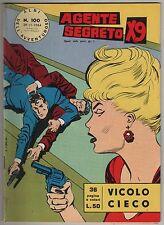 AGENTE SEGRETO X9 albi dell'avventuroso N.100 VICOLO CIECO fratelli spada 1964