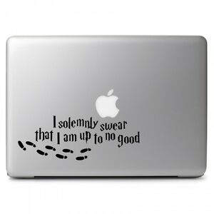 I Solemnly Swear That I Am up to No Good for Macbook Laptop Car Decal Sticker