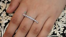 Genuine 925 silver Statement ring,White Gold plated infinity wedding band,Bague