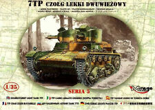 7 Tp Dos Torretas Tanque (ejército polaco Marcas 1939) 1/35 Mirage