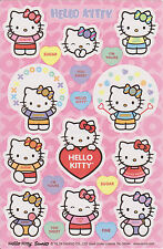 New Sealed Hello Kitty stickers 2 sheets per package scrapbooking Valentines