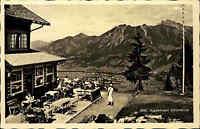Oberstdorf Bayern Allgäu AK ~1930/40 Alpenhotel Hotel Schönblick Terrasse Berge