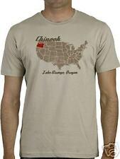Chinook USA Map Screen Printed Men's T-shirt -Large