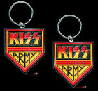 TWO CAST ALLOY KISS ARMY KEY RINGS ONE TO SHARE! GREAT GIFT! FREE AUSSIE P+H