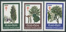 Finland 1969 MNH Trees Juniper Aspen Chokecherry Scott B185-87