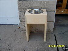 "DOG BOWL PET DISH RAISED 14"" SINGLE BOWL FEEDER"