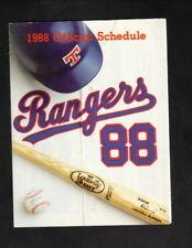 Texas Rangers--1988 Pocket Schedule--Dr Pepper