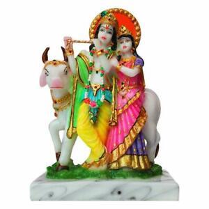 Hindu God Lord Radha Krishna Idol Sculpture Statue Figurine