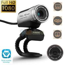 AUSDOM AW615 Full HD 1080P USB 2.0 Webcam Camera Video with Mic for PC Skype US