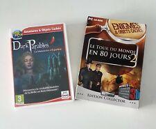 lot 2 jeux PC le tour du monde en 80 jours & dark Parbles la malédiction - TBE