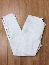 Womens Marissa Webb White Pants Jeans Denim Size 28x25 Skinny Moto Zippers Racer