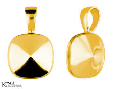 Bail (pendant) for Swarovski 4470 12 mm w 119 - gold-plated silver