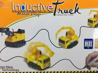 Inductive Truck Toy Car Model Magic Follow Any Drawn Line Pen