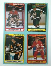 1990 O-Pee-Chee OPC Box Bottom 4 cards Patrick Roy Mario Lemieux Modano MacInnis