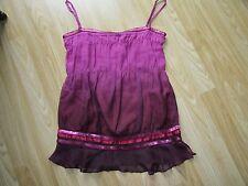 Womens Designer KAREN MILLEN Silk Top Size UK 10 / EU 38 GREAT CONDITION