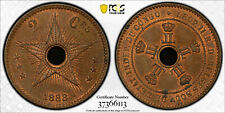 CONGO FREE STATE 1888 2 CENTIME PCGS MS64BN
