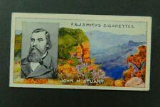 Cigarette Card F.& J.Smith's - Famous Explorers 1911 - John M Stuart  #12