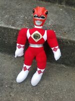 Vintage Bandai Mighty Morphin Power Rangers MMPR Jason Red Plush Figure Toy *WoW