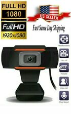Webcam 1080P HDWeb Camera with Built-in HD Microphone 1920 x 1080p Web Cam USB..