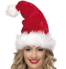 Vestito Natale Deluxe Claus Cappello Da Babbo Rosso con Decorazione Smiffys