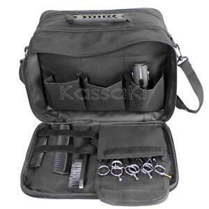 Hairdressing Tool Carry Equipment Salon Storage Travel Bag Case Black Kassaki