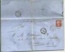 * 1865 BARNSLEY >LONDON DRAFT LEGAL LETTER SEALED AGAINST INSPECTION MORE TO PAY