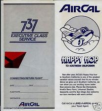 AIR CAL 737 EXECUTIVE CLASS SERVICE TICKET JACKET-HAPPY HOP-1986