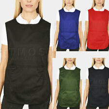 More details for tabard apron with pockets overall kitchen catering cleaning workwear uniform