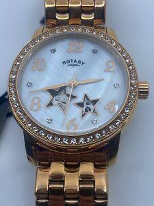 Rotary Automatic Lb03736/41 Ladies Stars Watch - 100m