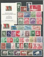 DDR    postfrisch 1956   ( ohne  Blockmarke-)