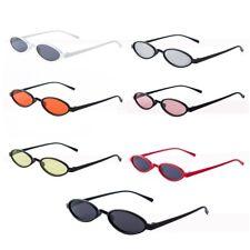 New Men Women Retro Vintage Glasses Small Oval Sunglasses Fashion Shades Eyewear