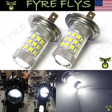 2 Xenon White 36-SMD H7 LED Bulbs Projector Lens Motorcycle Headlights #L9