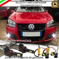 KIT FULL LED VW GOLF 5 LAMPADE H11 FENDINEBBIA CANBUS 6400 LUMEN 6000K NOAVARIA
