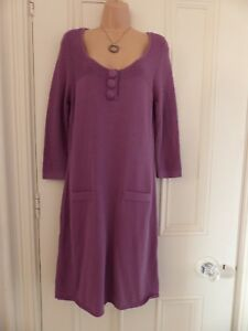 Lovely purple jumper dress from Dickins and Jones size M with large buttons
